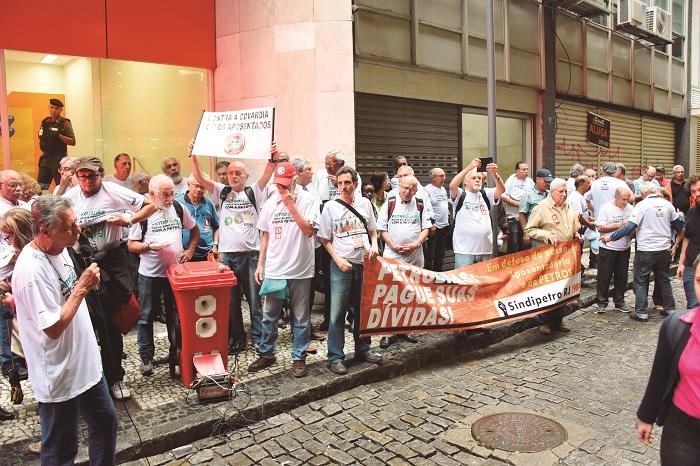 Protesto contra situação da Petros Dia Nacional de Luta Pela Soberania 03102017 DSC 6055 B