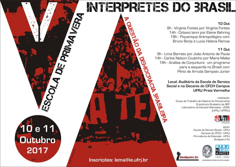 Escola de Primavera e Intérpretes do Brasil 10 outubro – 09:00 às 11 outubro – 17:00 escolaprimavera