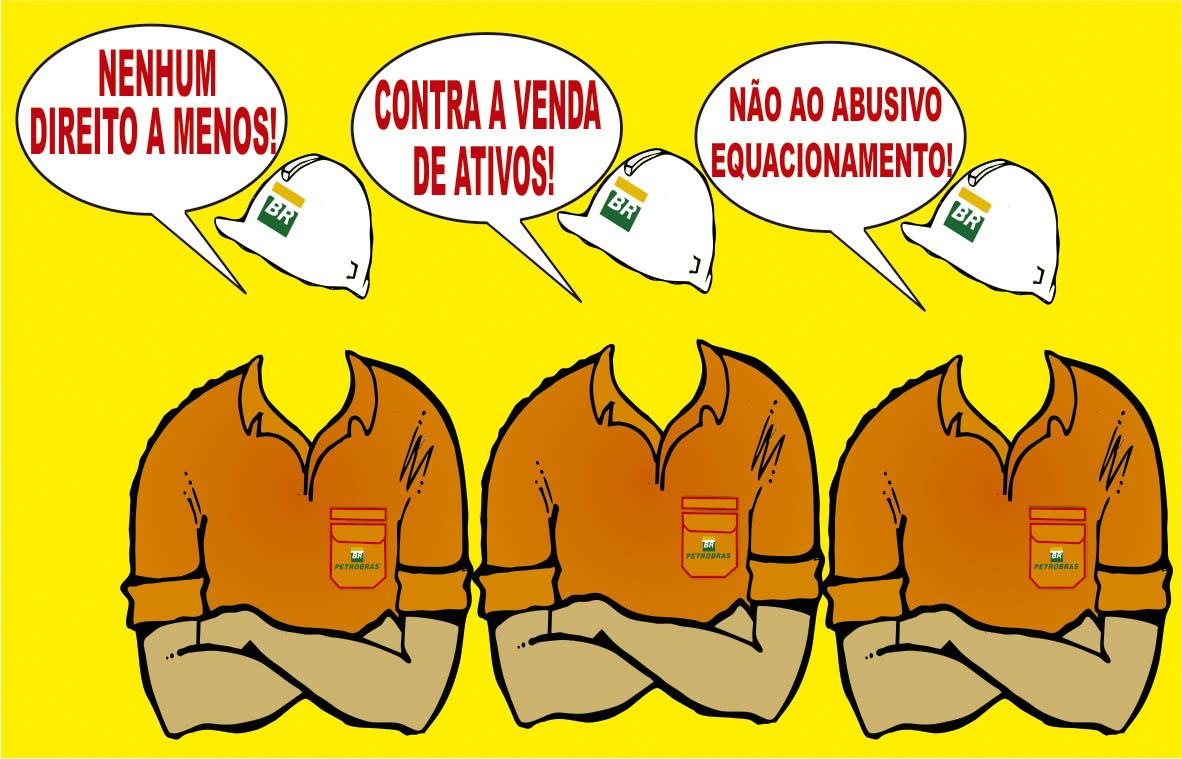 Deter imediatamente a destruição da Petrobrás e salvar a economia, em prol dos trabalhadores brasileiros! ILUSTRA    O GREVE BRA  O CRUZADO