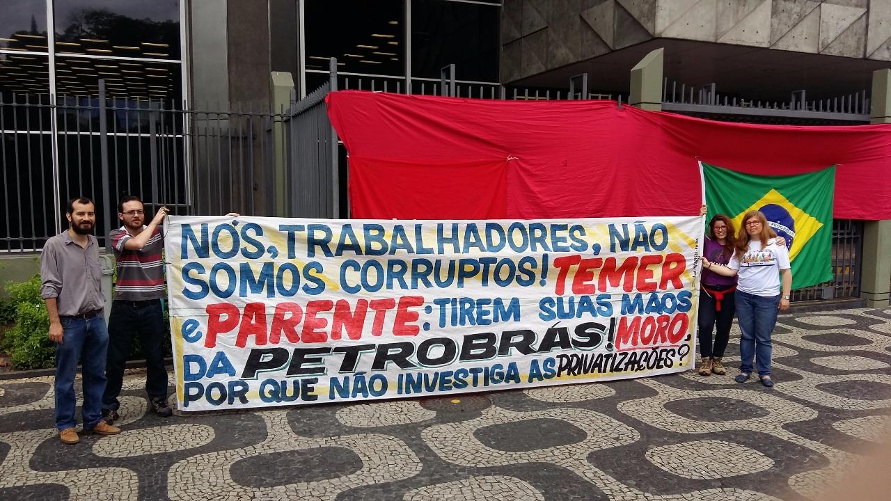 Manifesto de Repúdio à Presença de Sérgio Moro na Petrobras WhatsApp Image 2017 12 11 at 21