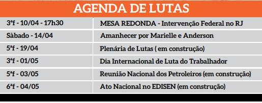 Calendário Agenda lutas 1  Calendário Agenda lutas 1