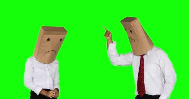 Plafort: Responda Petrobrás! depositphotos 169939846 stock video angry anonymous businessman scolding his