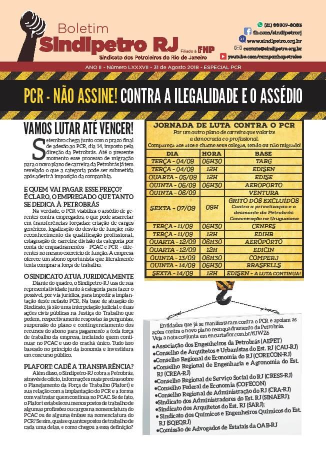 Boletim 87 – Especial PCR Capa 87 PCR