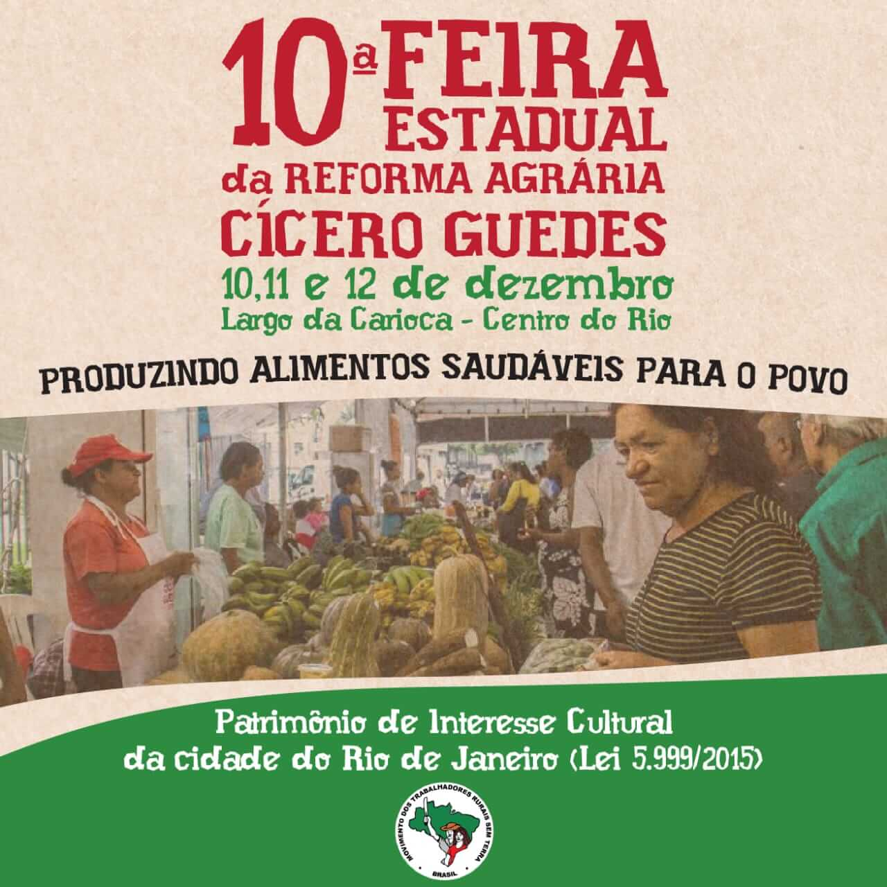 Centro do Rio recebe 10ª Feira Estadual da Reforma Agrária WhatsApp Image 2018 12 07 at 17