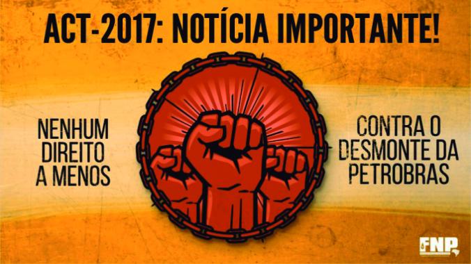 Participe das Assembleias sobre o ACT 2017 cartaz