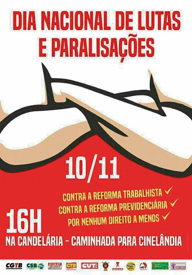 Sexta (10) é Dia Nacional de Luta! Cartaz 10 ok