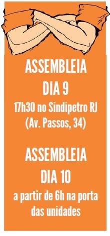 Sexta (10) é Dia Nacional de Luta! cartaz assembleia