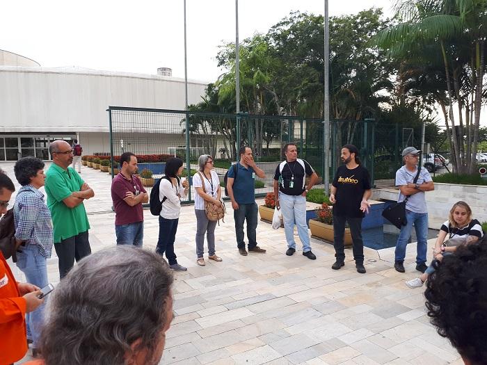 Trabalhadores do CENPES protestam contra a Terceirização da Operação na unidade 20171227 075419