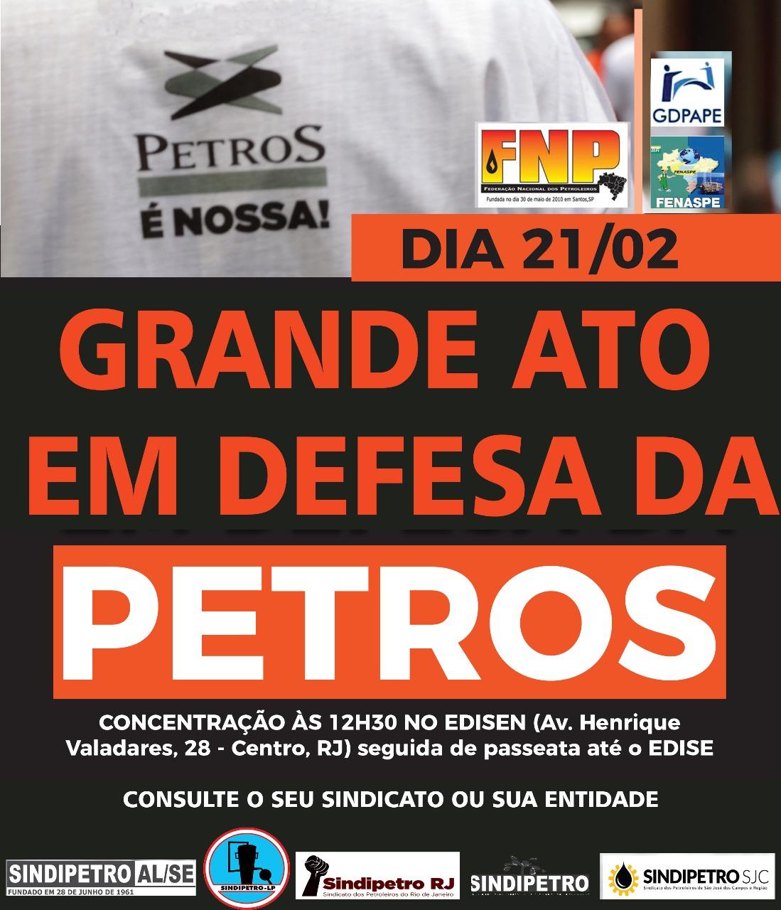 Ato em defesa da Petros Petros fevereiro  Ato em defesa da Petros Petros fevereiro