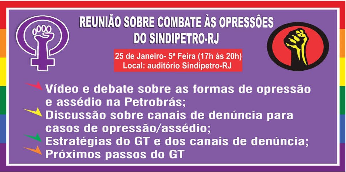 Combate às opressões foi tema de debate no Sindipetro-RJ Reuni  o opress  es