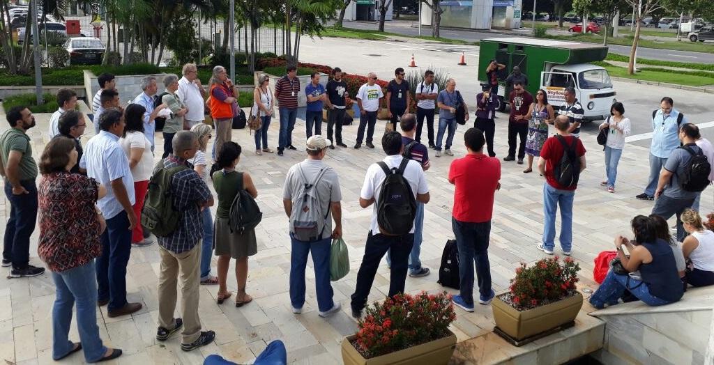Em dia de mobilizações, bases da FNP e Sindipetro-RJ exigem ACT digno cenpes 3 jan