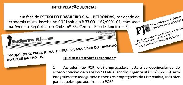 Pra cima deles! Sindipetro-RJ firma interpelação judicial sobre o PCR contra Petrobrás interpela    o