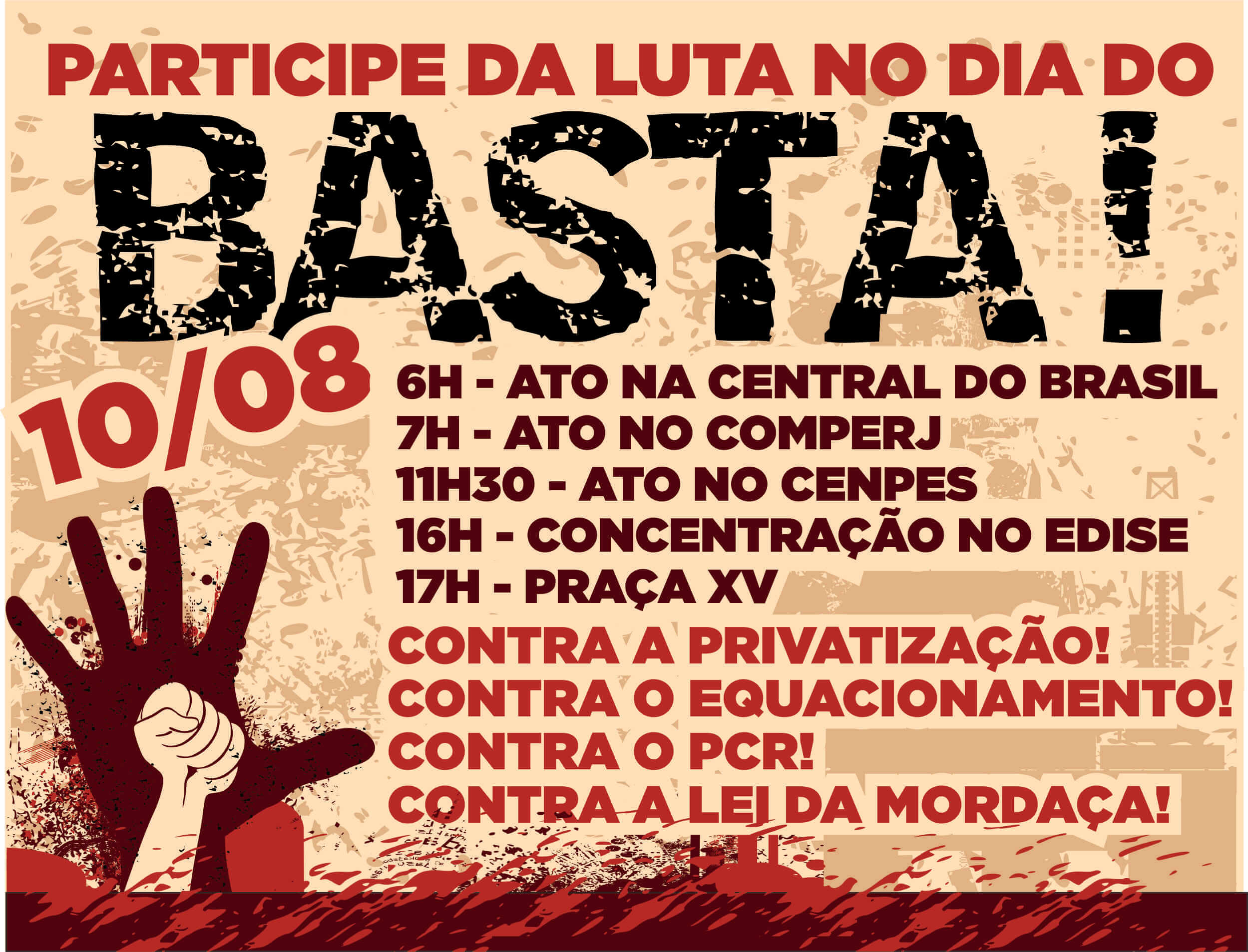 DIA DO BASTA! CARTAZ DIA DO BASTA ZAP 4  DIA DO BASTA! CARTAZ DIA DO BASTA ZAP 4