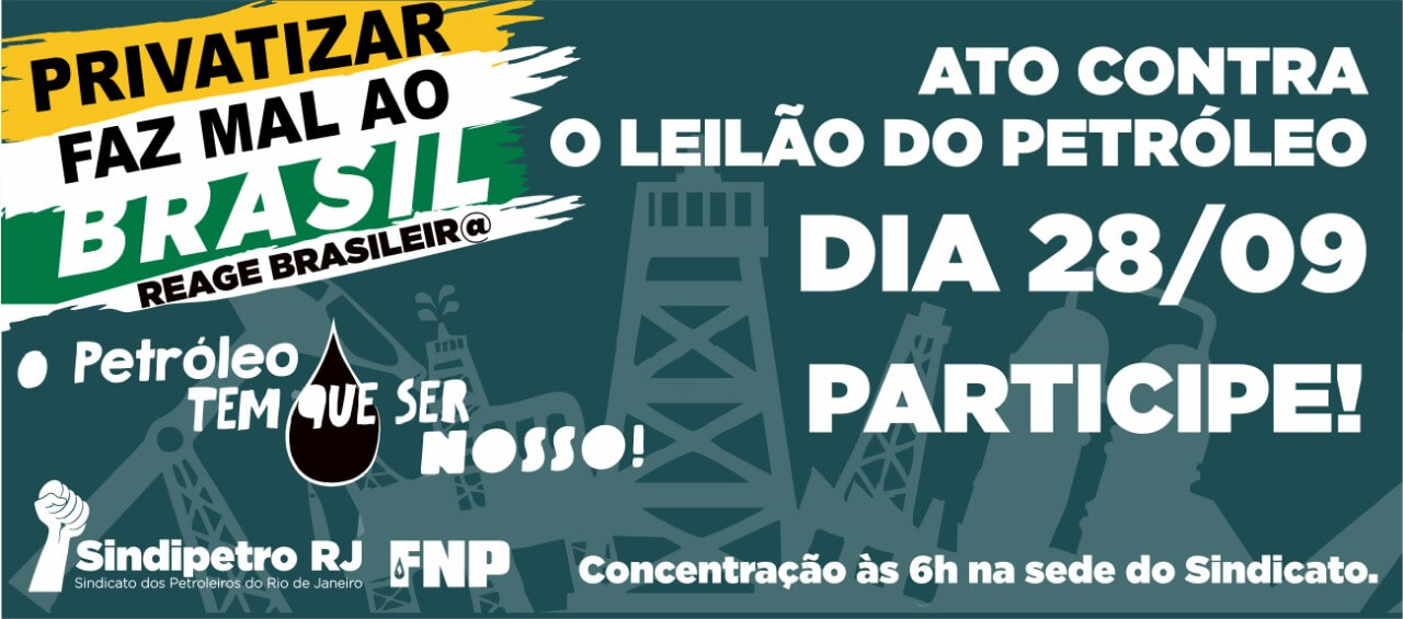 Ato contra o leilão do petróleo WhatsApp Image 2018 09 19 at 10