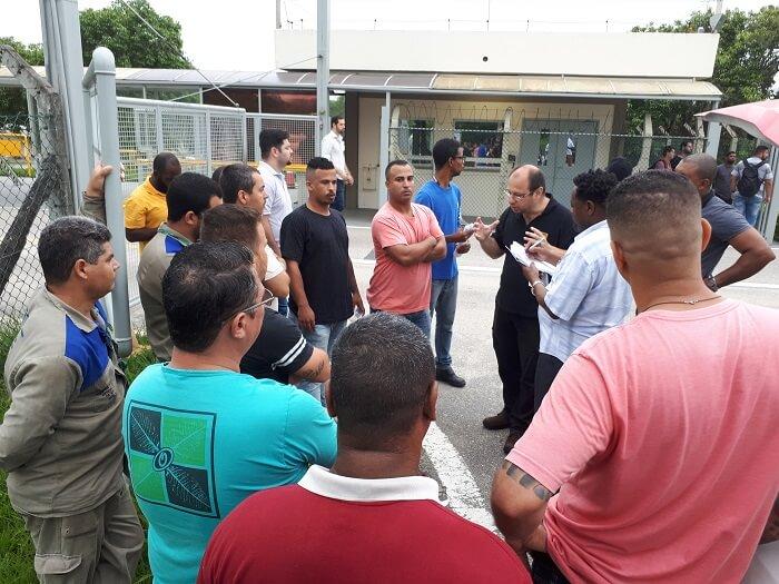 Trabalhador organizado: terceirizados da Petrobrás mostram sua força e revertem demissões UTE 1