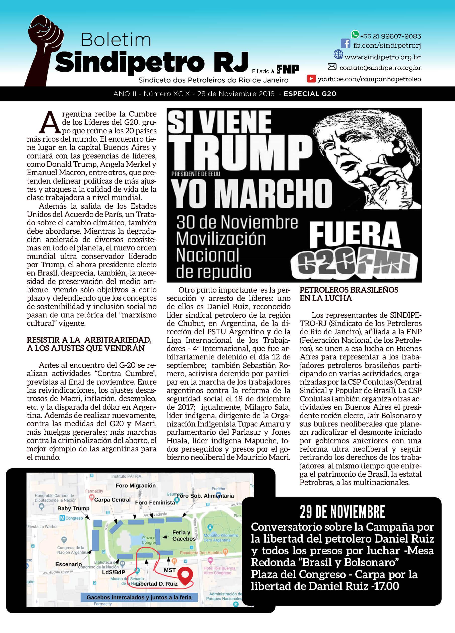 Boletim Especial Contra Cumbre – Em espanhol Especial G20